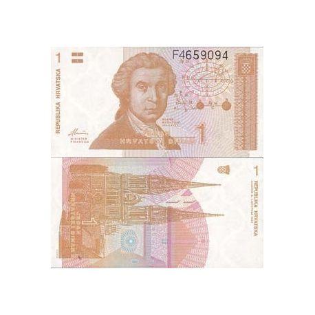 Croatie - Pk N° 16 - Billet de 1 Dinars