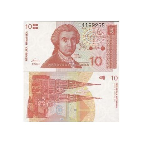 Billet de collection Croatie Pk N° 18 - 10 Dinars