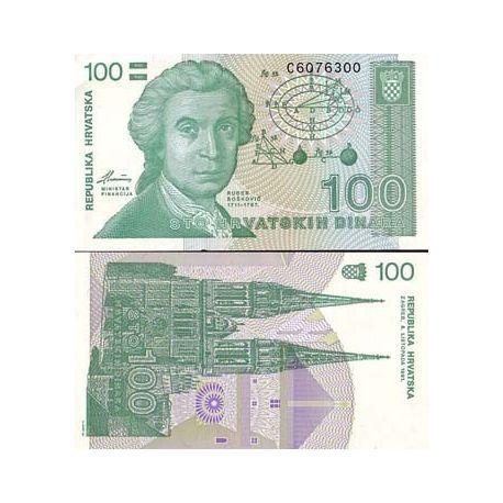 Croatie - Pk N° 20 - Billet de 100 Dinars