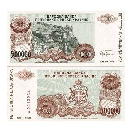 Croatie (Serbie) - Pk N° 23 - Billet de 500000000 Dinara