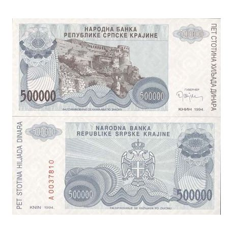 Billets de collection Billet de collection Rep. Serbe de Krajina Pk N° 32 - 500000 Dinara Billets de Croatie (Serbie) 6,50 €