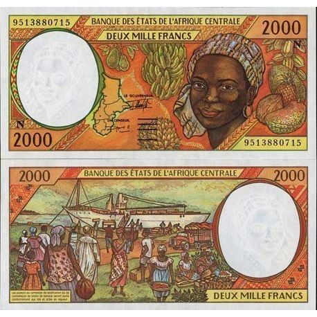 Billets de collection Billets banque Afrique Centrale Guinee Equatoriale Pk N° 503 - 2000 Francs Billets de Guinée Française ...