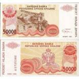 Banknote collection Croatia Pick number 21 - 50000 Dinara