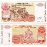 Colección Billetes Croacia Pick número 21 - 50000 Dinara