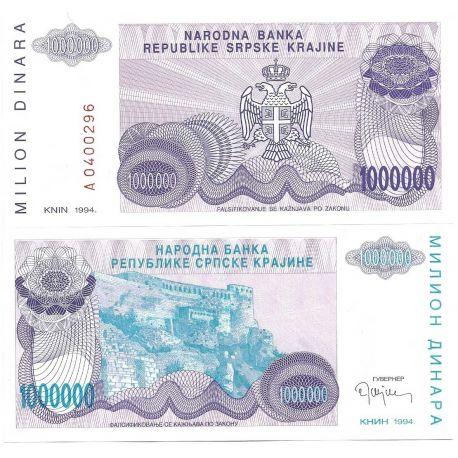 Croatie (Serbie) - Pk N° 33 - Billet de 1 MIL Dinara