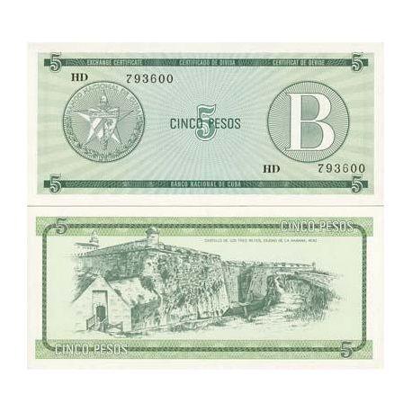 Cuba - Pk No. 7 - 5 Pesos ticket
