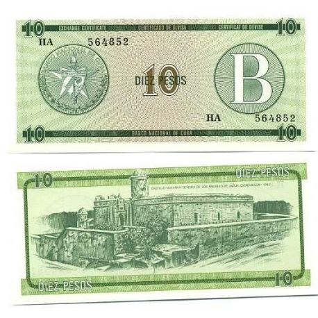 Billets de collection Billets collection Cuba Pk N° 8 - 10 Pesos Billets de Cuba 2,00 €