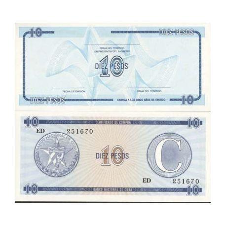 Cuba - Pk No. 22 - 10 Pesos ticket