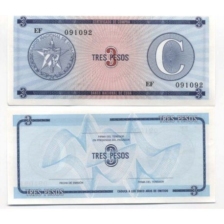 Billets de collection Billet de collection Cuba Pk N° 20 - 3 Pesos Billets de Cuba 2,00 €