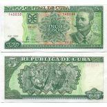 Billets de banque Cuba Pk N° 116 - 5 Pesos