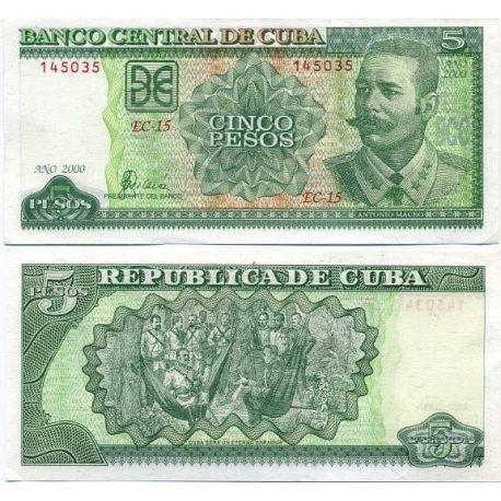 Cuba - Pk # 116 - Ticket 5 Pesos