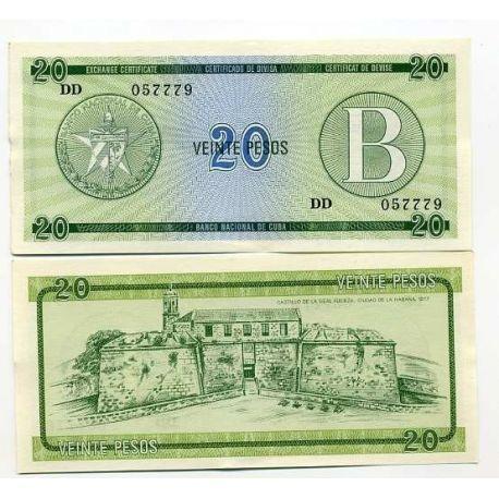 Cuba - Pk No. 9 - 20 Pesos ticket