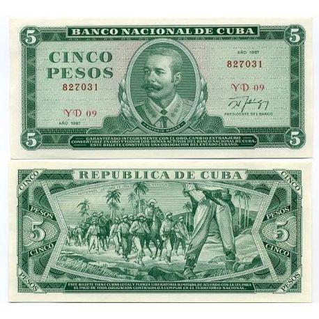 Cuba - Pk # 103 - Ticket 5 Pesos