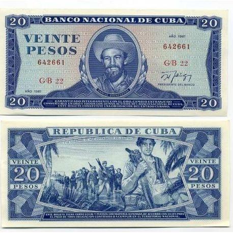 Cuba - Pk # 105 - Ticket 20 Pesos