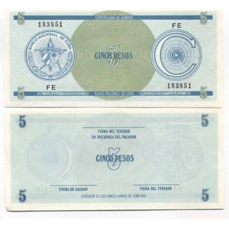Cuba - Pk No. 13 - Ticket 5 Pesos