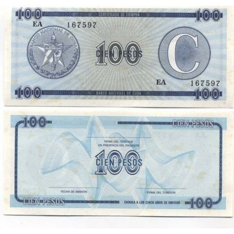 Billets de collection Billets collection CUBA Pk N° 25 - 100 Pesos Billets de Cuba 4,00 €