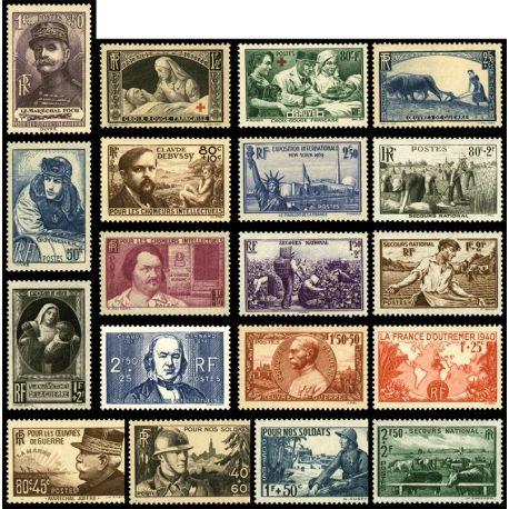 France 1940 Neufs - Année complète