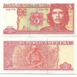 Banknoten Sammlung Kuba Pick Nummer 127 - 3 Peso 2004