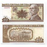 Banknote Cuba Pick number 117 - 10 Peso 1997
