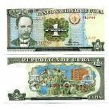 Sammlung von Banknoten Kuba Pick Nummer 112 - 1 Peso 1995