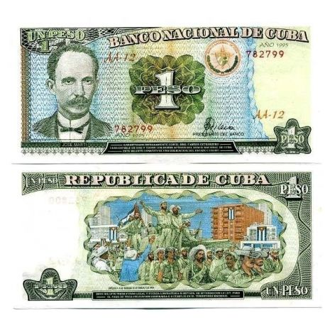 Billets de collection Billet de collection Cuba Pk N° 112 - 1 Peso Billets de Cuba 4,00 €