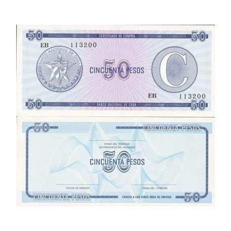 CUBA - Pk No. 24 - 50 Note Pesos