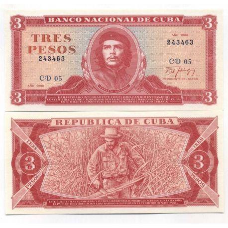 Cuba - Pk # 107 - Ticket 3 PESOS