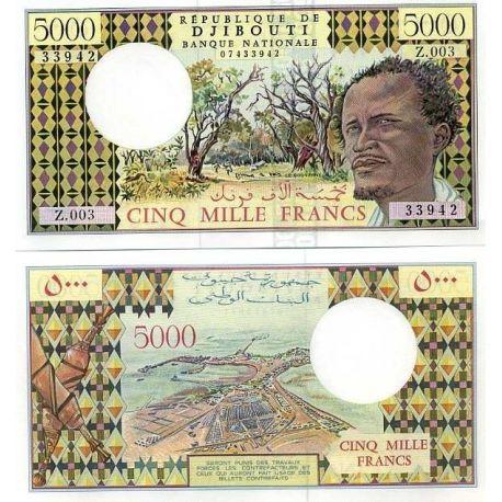 DJIBOUTI - Pk: # 38 - 5000 Franks ticket