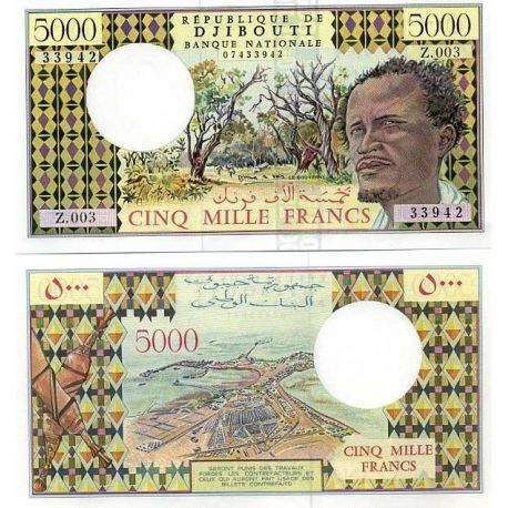 Billets de collection Billets collection DJIBOUTI Pk N° 38 - 5000 Francs Billets de Djibouti 92,00 €