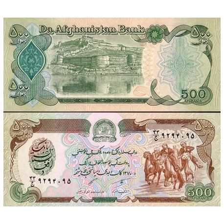 Billets de collection Billet de collection Afghanistan Pk N° 60 - 500 Afghanis Billets d'Afghanistan 1,50 €