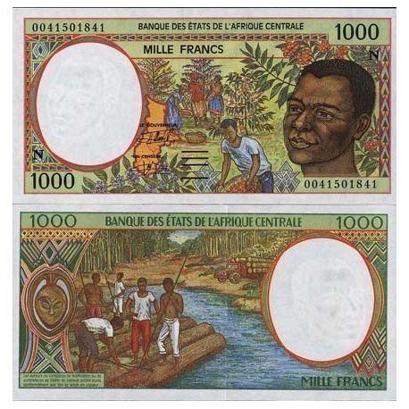 Billets de collection Billet de banque Afrique Centrale Guinee Equatoriale Pk N° 502 - 1000 Francs Billets de Guinée Français...