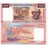 Banknoten Sammlung Djibouti Pick Nummer 42 - 1000 FRANC 2002