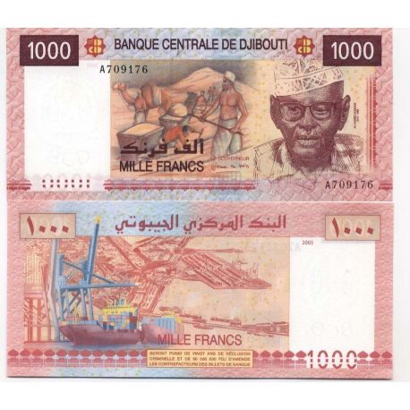 Billets de collection Billet de collection Djibouti Pk N° 42 - 1000 Francs Billets de Djibouti 20,00 €