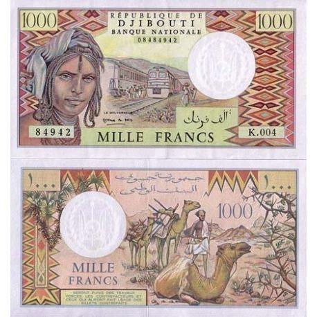 Djibouti - Pk: # 37 - 1000 francs Ticket