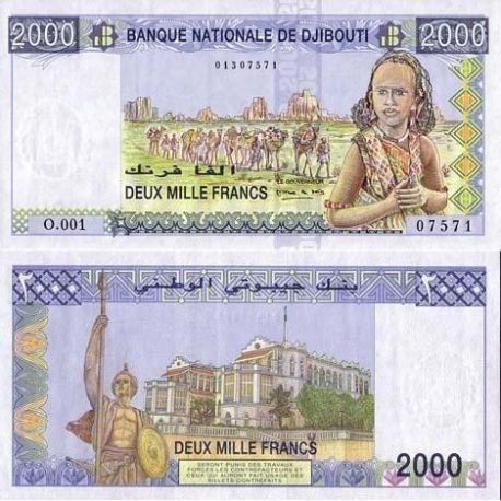 Billets de collection Billet de collection Djibouti Pk N° 40 - 2000 francs Billets de Djibouti 41,00 €