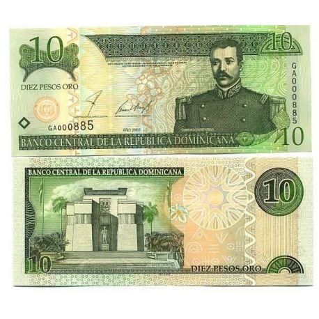 Dominicaine Repu. - Pk # 168 - Ticket 10 Pesos