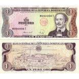 Colección de billetes República Dominicana Pick número 126 - 1 Peso 1984