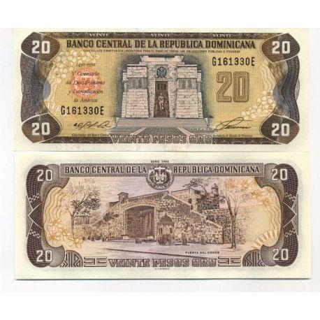 Dominicaine Repu. - Pk # 139 - Ticket 20 Pesos
