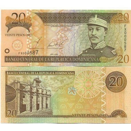 Billets de collection Billets de banque Dominicaine Repu. Pk N° 169 - 20 Pesos Billets de République Dominicaine 4,00 €