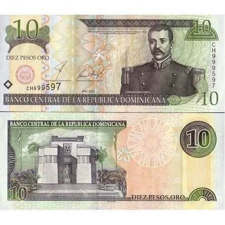Dominicaine Repu. - Pk N° 165 - Billet de 10 Pesos