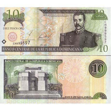Billets de collection Billets banque Dominicaine Repu. Pk N° 165 - 10 Pesos Billets de République Dominicaine 10,00 €