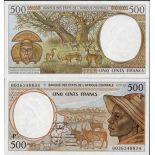 Collezione di banconote Chad Pick numero 601 - 500 FRANC 1993