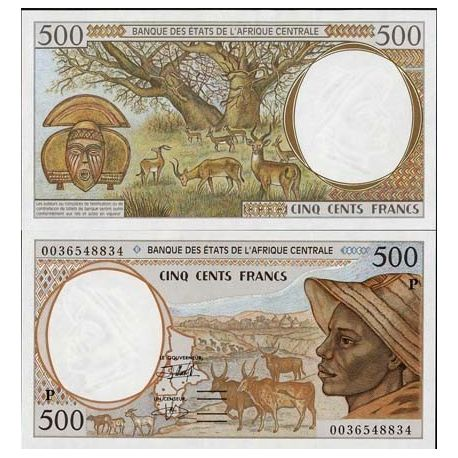 Billet de collection Afrique Centrale Tchad Pk N° 601 - 500 Francs