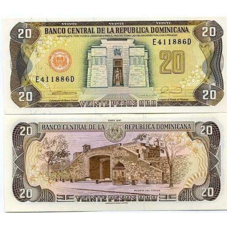 Dominicaine Repu. - Pk # 133 - Ticket 20 Pesos