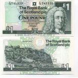 Collezione di banconote Scozia Pick numero 351 - 1 Livre 1988