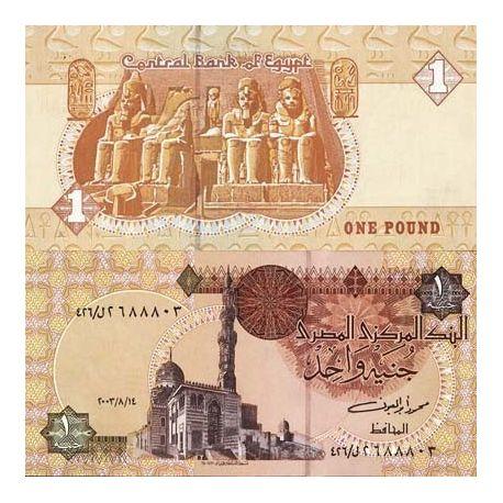 Billets de collection Billets banque Egypte Pk N° 50 - 1 Pound Billets d'Egypte 2,00 €
