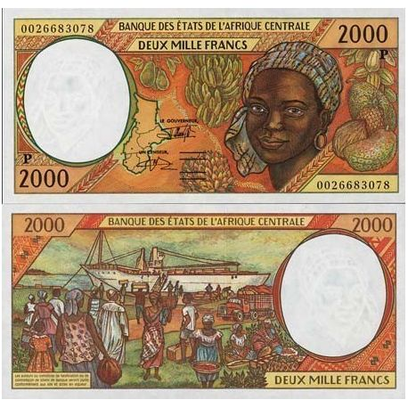 Central Africa Chad - Pk # 603 - ticket 2000 Francs