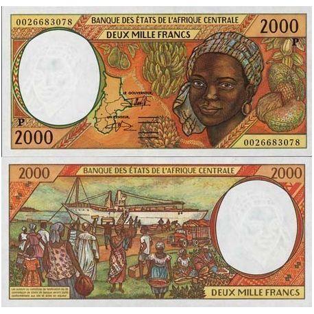Billets de banque Afrique Centrale Tchad Pk N° 603 - 2000 Francs