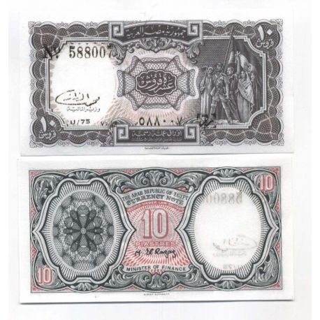 Billets collection Egypte Pk N° 184 - 10 Piastres