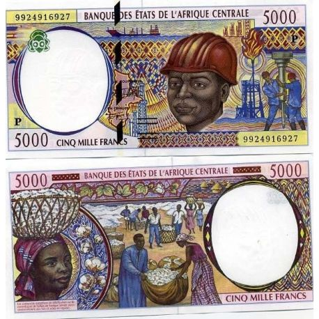 Billets de collection Billets collection Afrique Centrale Tchad Pk N° 604 - 5000 Francs Billets du Tchad 39,00 €